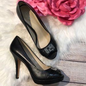 Coach black Aliya heels size 8.5